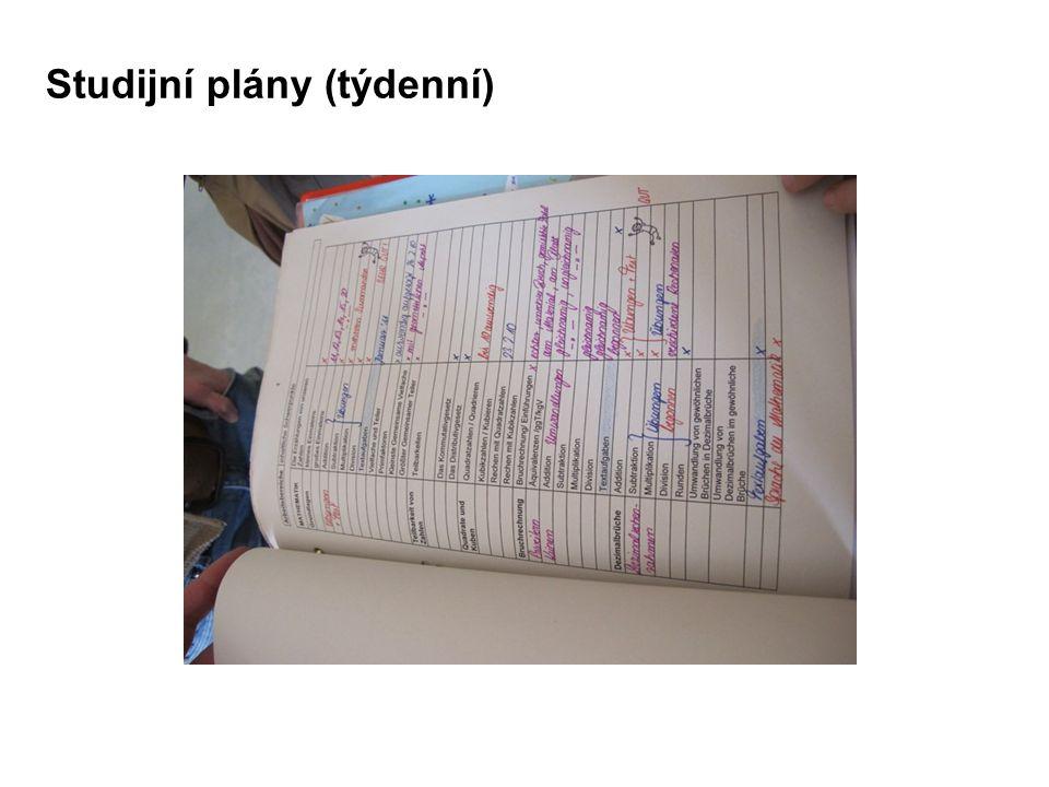Studijní plány (týdenní)