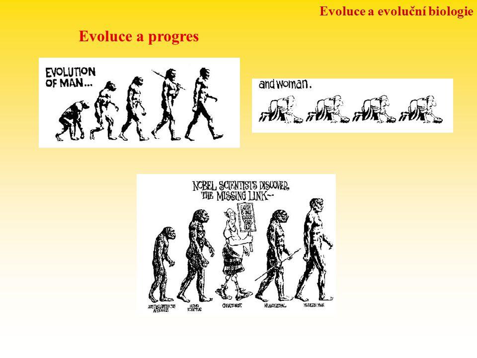 Evoluce a evoluční biologie Evoluce a progres
