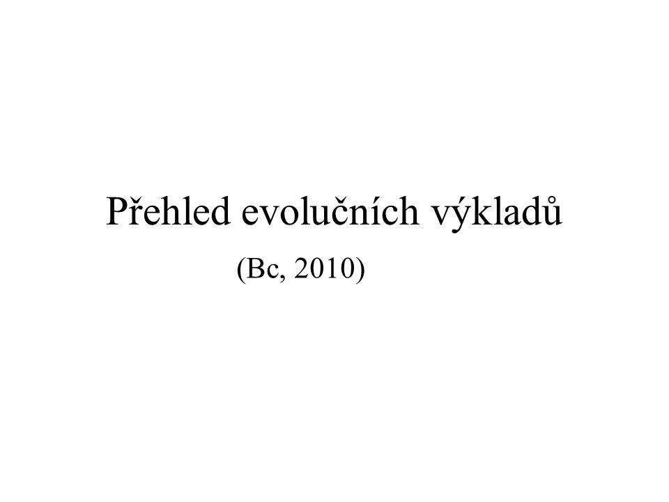 """Biologická evoluce: koncepty, """"evoluční teorie , výklady: a) funkcionalistické (adaptacionistické) b) strukturalistické (organocentrické) Biologická evoluce Flegr: """"Evolucí se obvykle rozumí postupný vývoj jakékoliv soustavy s """"pamětí , tj."""