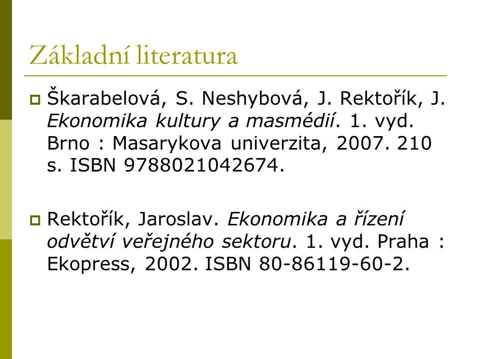 Základní literatura  Škarabelová, S. Neshybová, J.