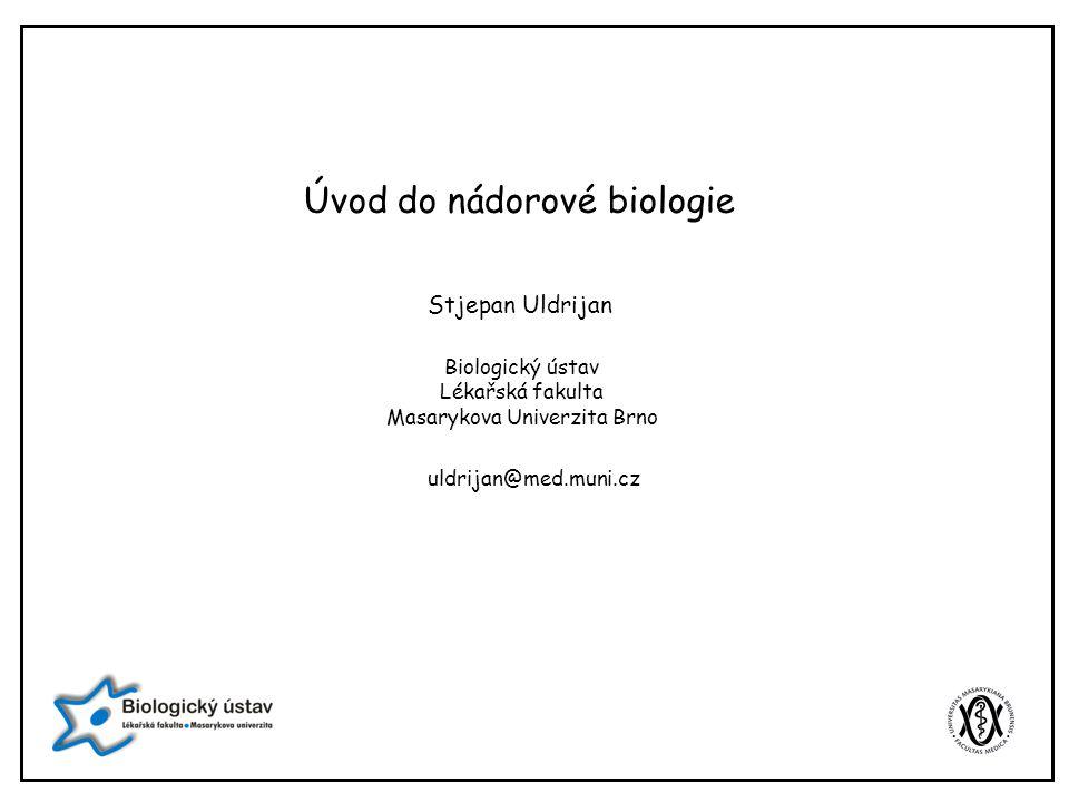 Úvod do nádorové biologie Stjepan Uldrijan Biologický ústav Lékařská fakulta Masarykova Univerzita Brno uldrijan@med.muni.cz