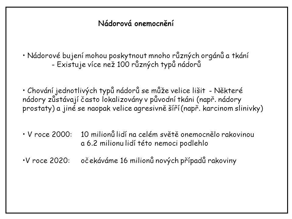 Příklady buněčných onkogenů Hanahan D, Weinberg RA.