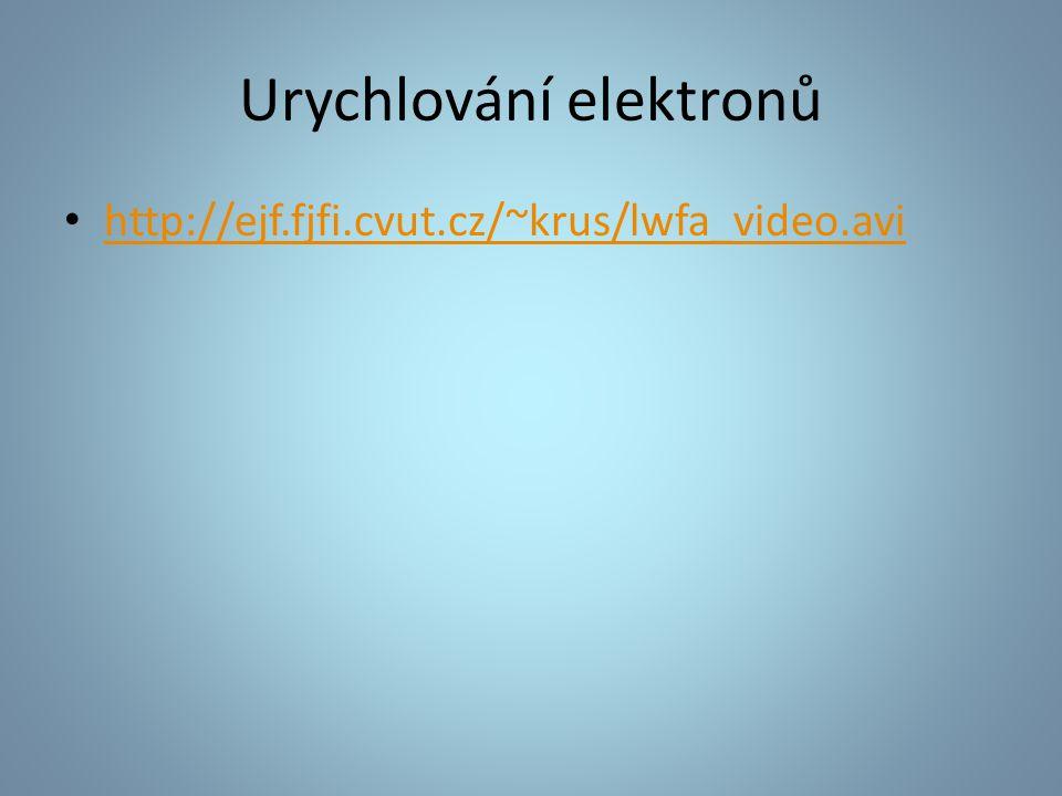 Urychlování elektronů http://ejf.fjfi.cvut.cz/~krus/lwfa_video.avi