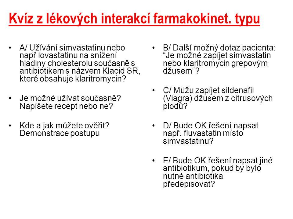 Postup v AISLP Klaritromycin + simvastatin 1.Složka souborů s názvem farmakologie na obr.