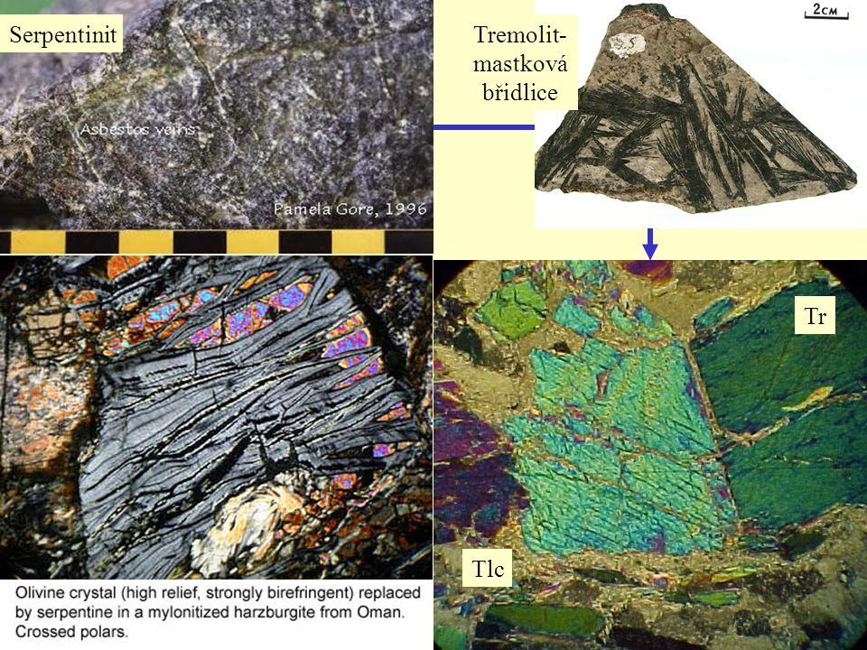 SerpentinitTremolit- mastková břidlice Tr Tlc