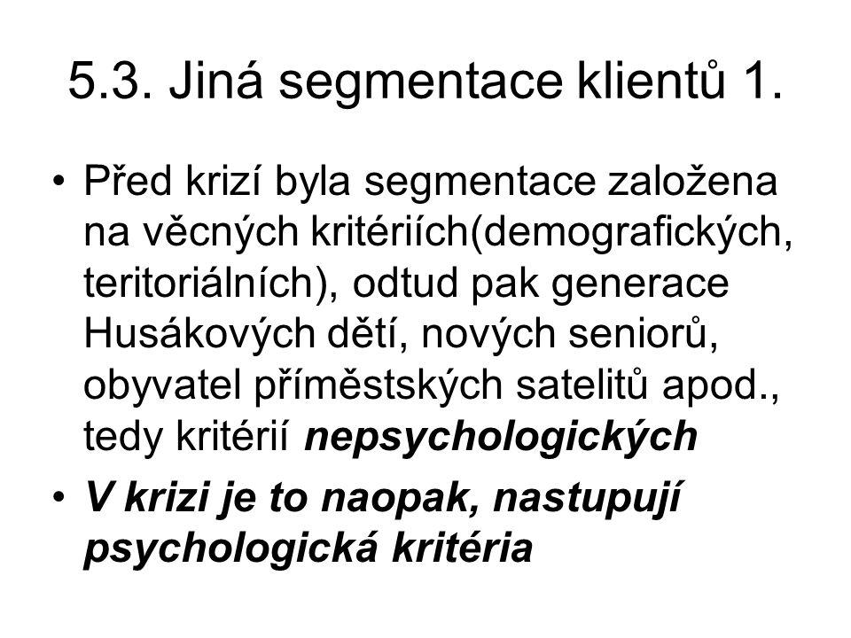 5.3. Jiná segmentace klientů 1.