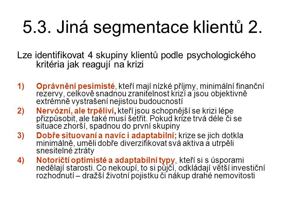 5.3. Jiná segmentace klientů 2.