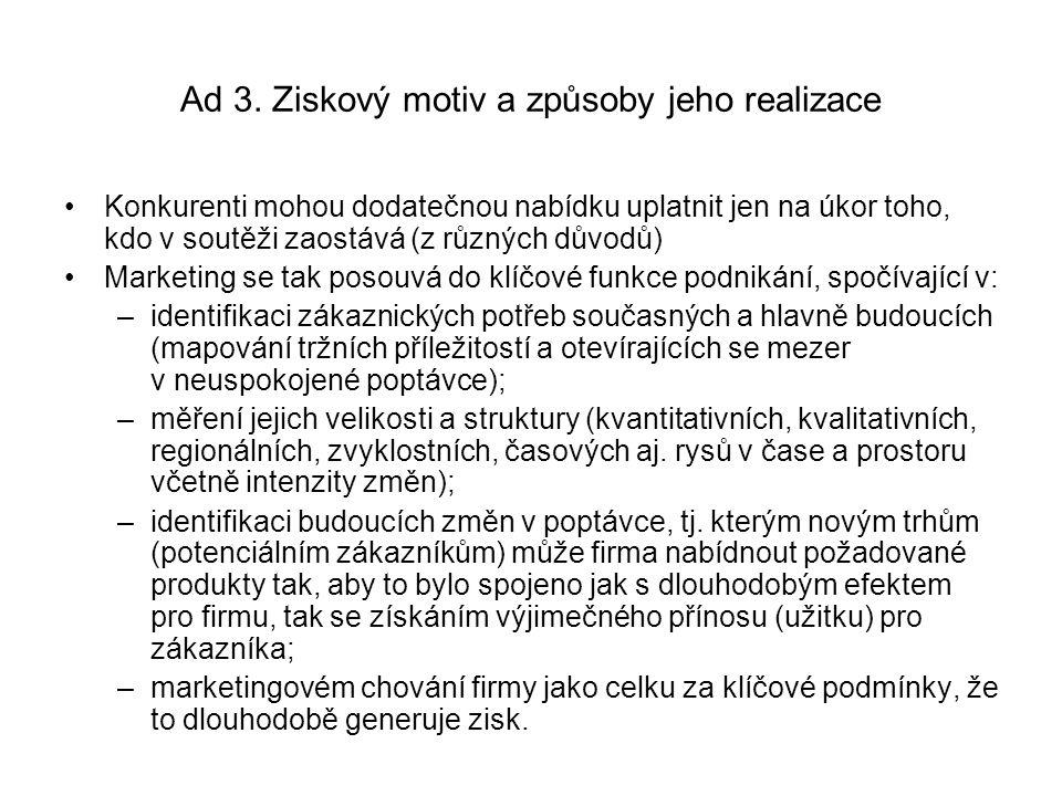 Ad 4.Geneze marketingového přístupu v nabídce pojistných služeb: 4.1.