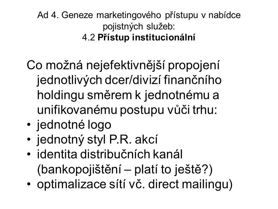 5.4.druhý dílčí závěr Existuje v pojišťovnictví analogie z oblasti spotřeby zboží.