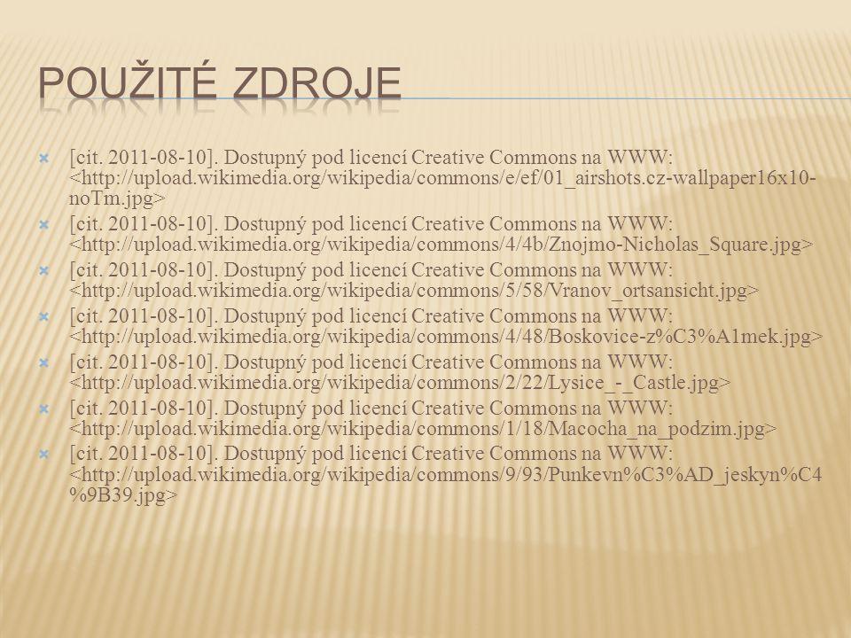 [cit. 2011-08-10]. Dostupný pod licencí Creative Commons na WWW: