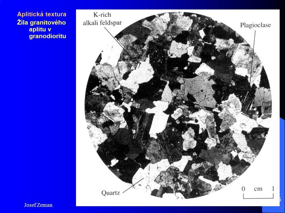 Josef Zeman 15 Aplitická textura Žíla granitového aplitu v granodioritu