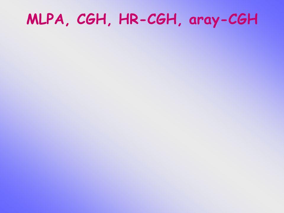 MLPA, CGH, HR-CGH, aray-CGH