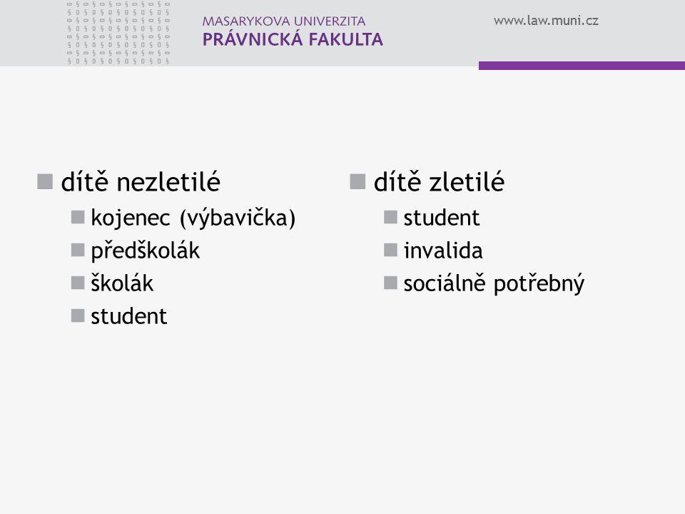 www.law.muni.cz VLASTNÍ MAJETEK DÍTĚTE § 37a odst.