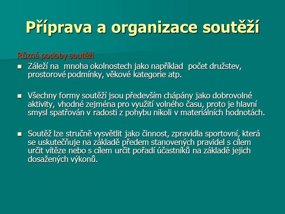 Příprava a organizace soutěží Příprava a organizace soutěží je náročná!!!.