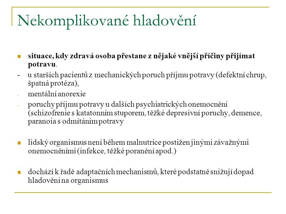 Důsledky nedostatečné výživy u starších lidí Primární.