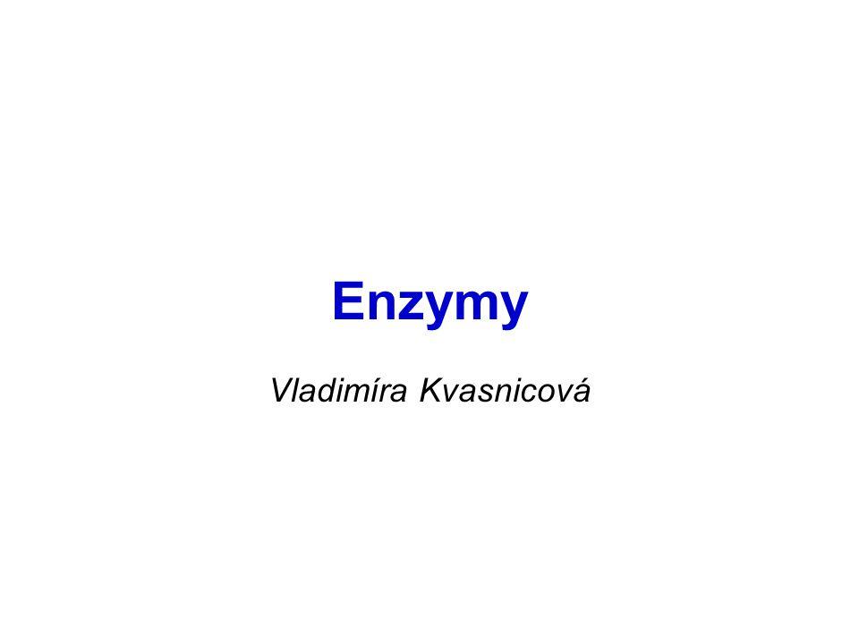 Stanovení aktivity enzymů z diagnostických důvodů nejčastěji je vyšetřována krev (sérum, plazma)  zjištění přítomnosti a závažnosti tkáňového poškození jednotky:  kat/L (= katalytická koncentrace enzymu) kat = katal 1 katal = 1 mol substrátu přeměněný enzymem za 1 sec.