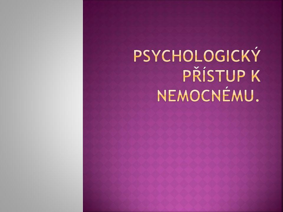  Zájem o tento problém vnesla do medicíny psychosomatická koncepce nemoci.