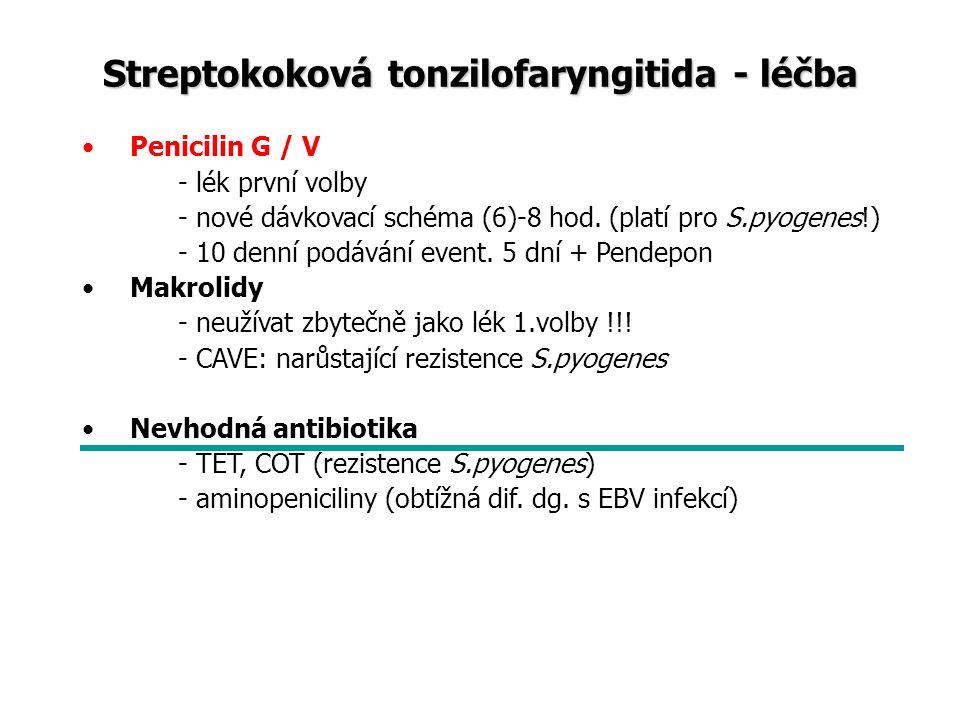 Akutní sinusitida Charakteristika: infekce jedné nebo více paranazálních dutin (synonyma- akutní rinosinusitida) Etiologie: virová: respirační viry bakteriální: Streptococcus pneumoniae, Haemophilus influenzae, Moraxella catarrhalis mykotická - u imunodeficitních stavů polybakteriální - u odontogenní infekce alergická Epidemiologie: přenos kapénkovou nákazou, častá komplikace virového zánětu HCD Příznaky: přítomnost aspoň dvou ze třech hlavních příznaků: sekrece z nosu, nosní neprůchodnost, bolesti hlavy, další doprovodné příznaky zánětu HCD- tubární obstrukce, kašel, kýchání, rinolálie Vyšetření: zobrazovací metody, mikrobiologie ze střední nosní etáže, FW, KO+dif.,CRP Dif.dg.: alergie, nosní polypy, cizí těleso, nádory, neuralgie Patofyziologie sinusitidy