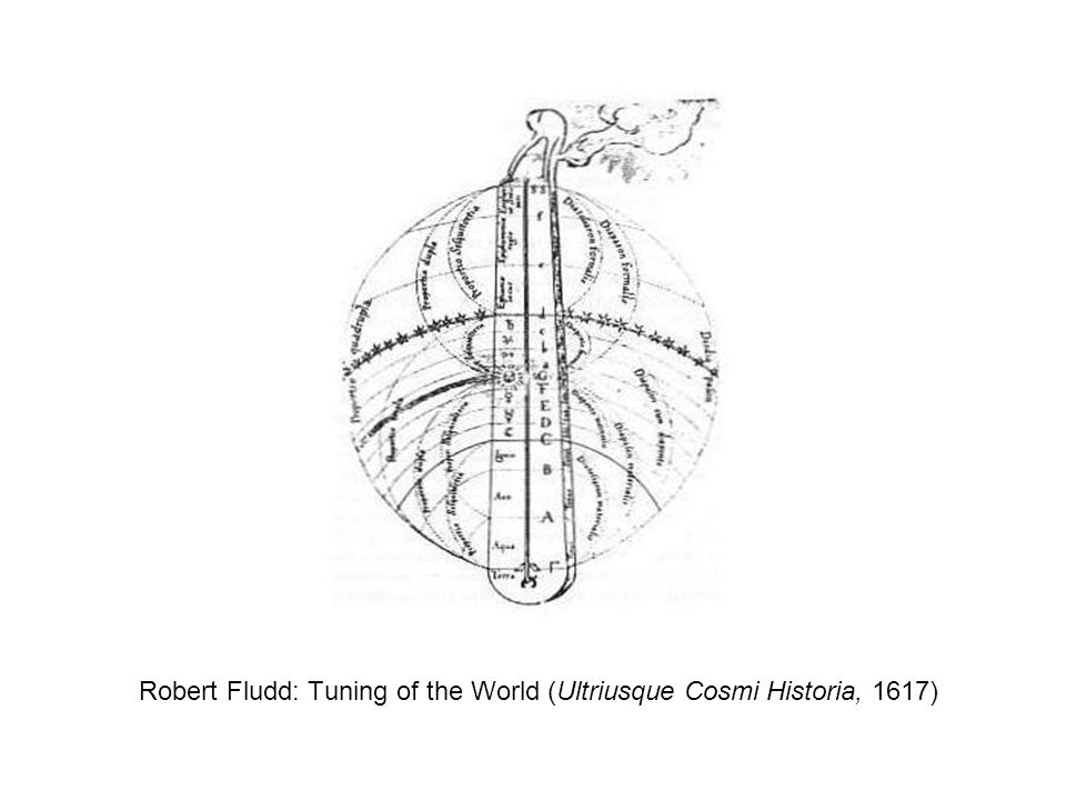 Robert Fludd: Tuning of the World (Ultriusque Cosmi Historia, 1617)