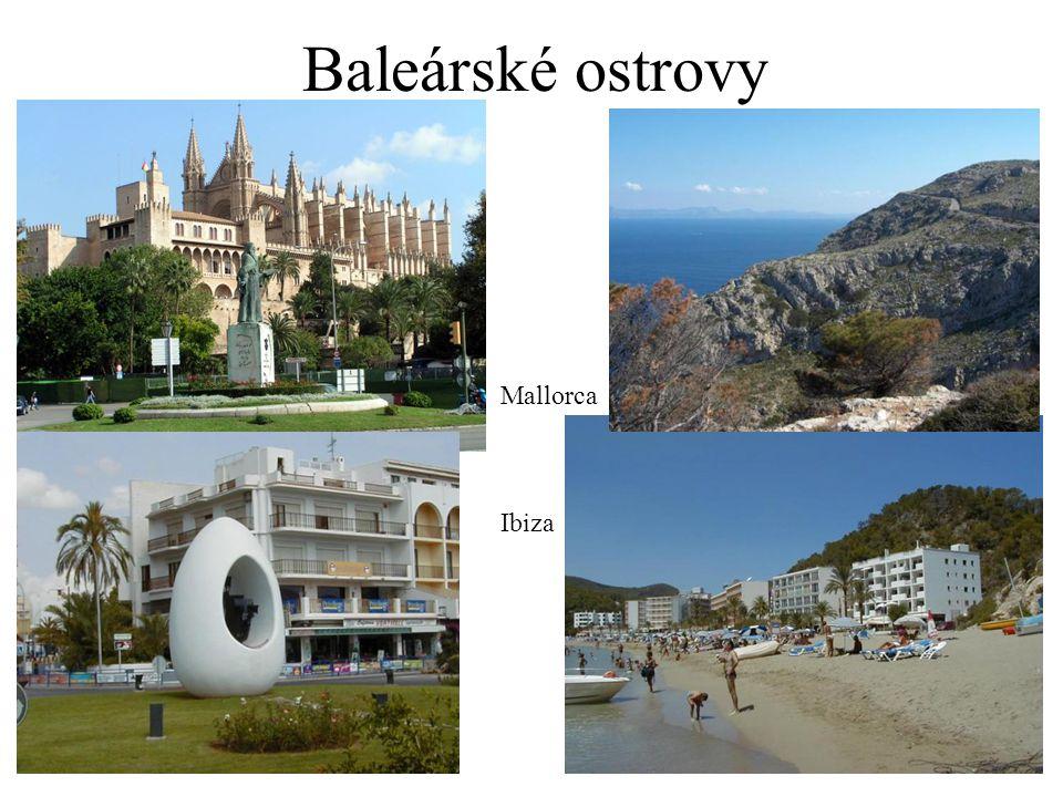 Baleárské ostrovy Mallorca Ibiza