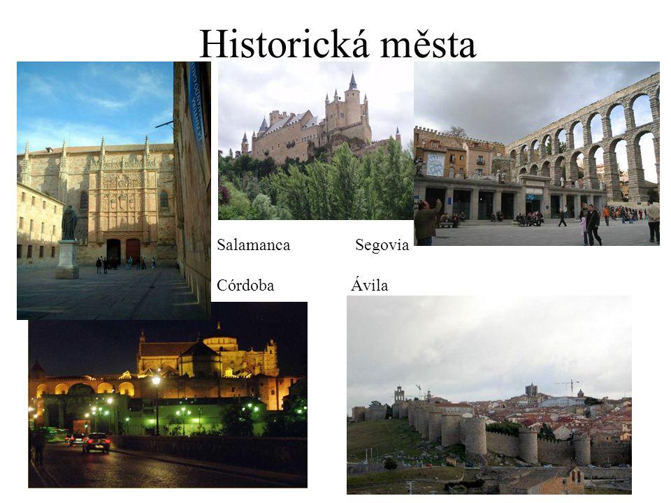Historická města Salamanca Segovia CórdobaÁvila