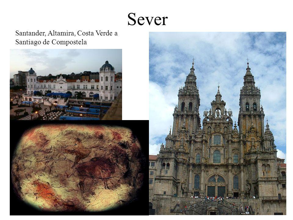 Sever Santander, Altamira, Costa Verde a Santiago de Compostela