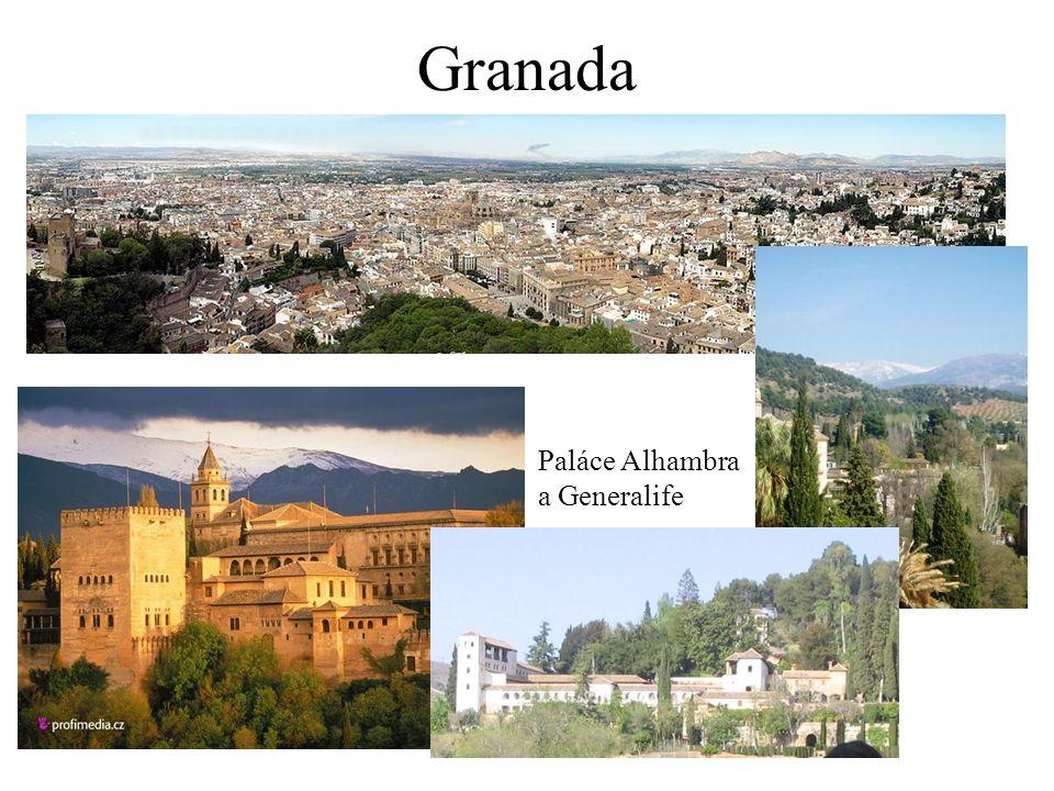 Granada Paláce Alhambra a Generalife