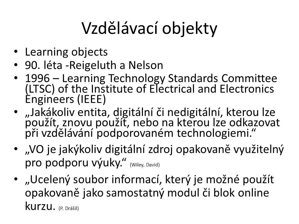 Vzdělávací objekty Learning objects 90.