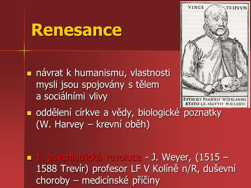 Renesance návrat k humanismu, vlastnosti mysli jsou spojovány s tělem a sociálními vlivy návrat k humanismu, vlastnosti mysli jsou spojovány s tělem a