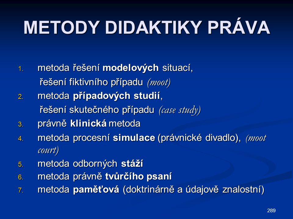 289 METODY DIDAKTIKY PRÁVA 1.