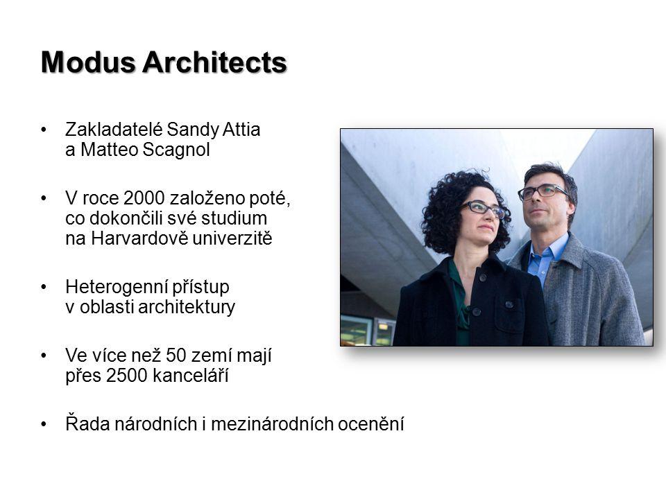 Zakladatelé Sandy Attia a Matteo Scagnol V roce 2000 založeno poté, co dokončili své studium na Harvardově univerzitě Heterogenní přístup v oblasti architektury Ve více než 50 zemí mají přes 2500 kanceláří Řada národních i mezinárodních ocenění