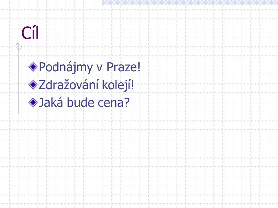 Cíl Podnájmy v Praze! Zdražování kolejí! Jaká bude cena