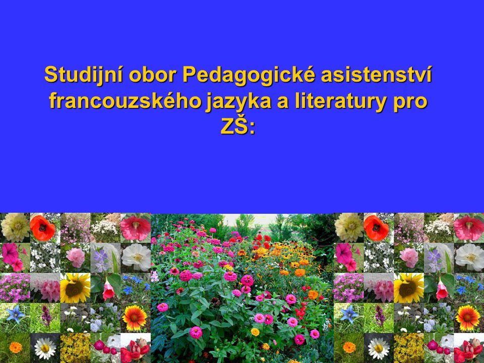 Studijní obor Pedagogické asistenství francouzského jazyka a literatury pro ZŠ: