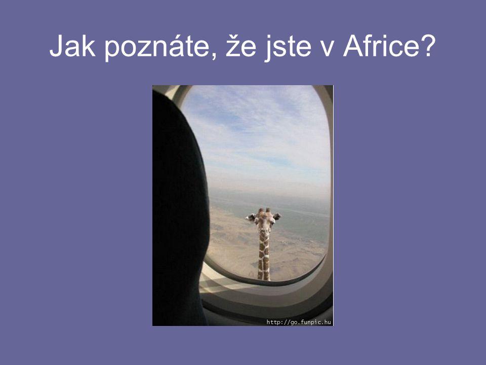 Jak poznáte, že jste v Africe?