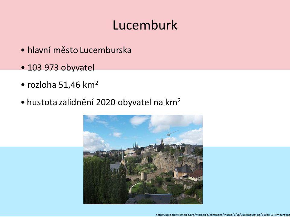 Lucemburk hlavní město Lucemburska 103 973 obyvatel rozloha 51,46 km 2 hustota zalidnění 2020 obyvatel na km 2 http://upload.wikimedia.org/wikipedia/c