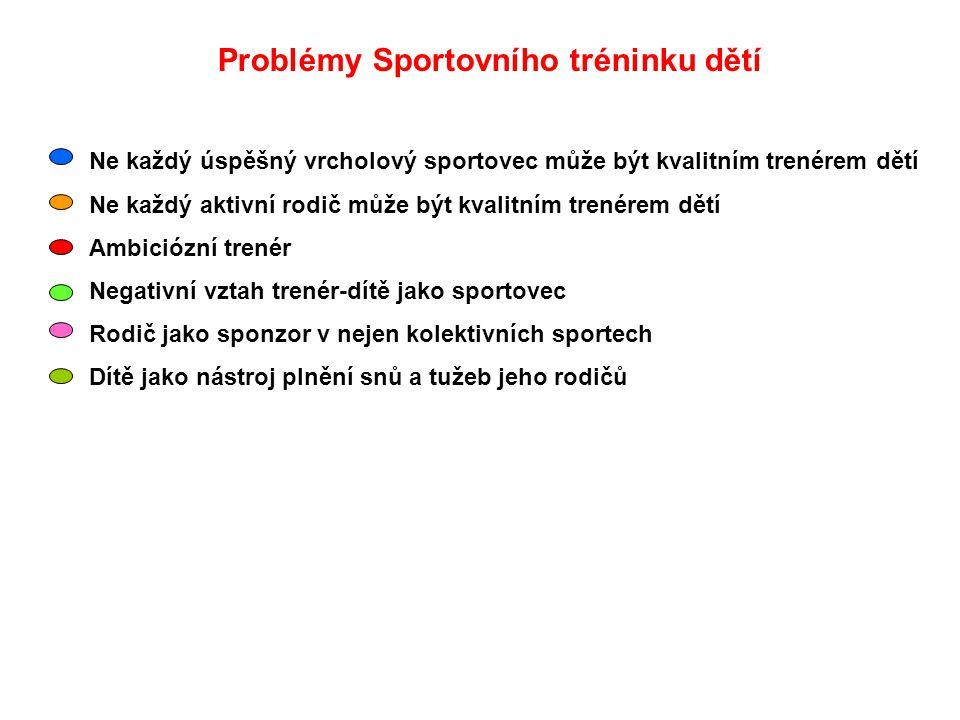 Cíle sportovní přípravy dětí 3 priority trénéra 1.Nepoškodit děti fyzicky nebo psychicky Fyzicky (skolióza, únavové zlomeniny, předčasná osifikace kostí atd.