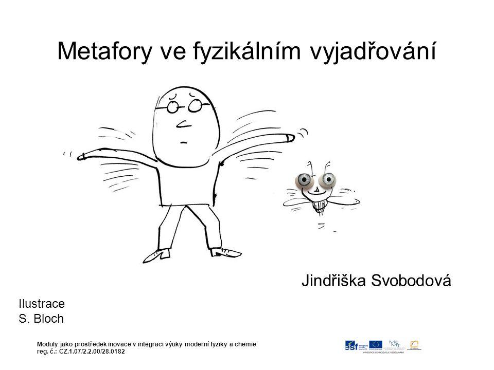Metafory ve fyzikálním vyjadřování Jindřiška Svobodová Moduly jako prostředek inovace v integraci výuky moderní fyziky a chemie reg.