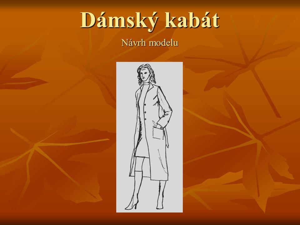 Dámský kabát Návrh modelu