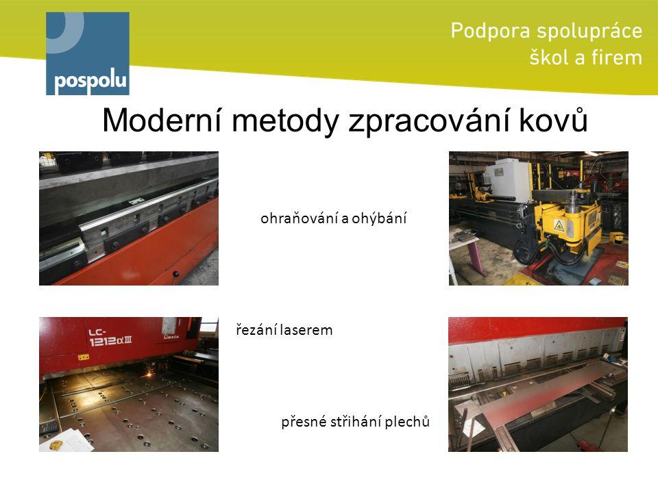 Moderní metody zpracování kovů ohraňování a ohýbání řezání laserem přesné střihání plechů