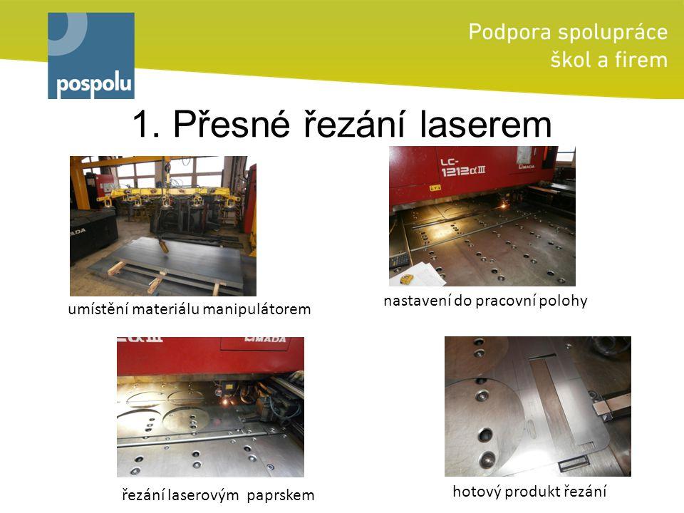 1. Přesné řezání laserem umístění materiálu manipulátorem řezání laserovým paprskem hotový produkt řezání nastavení do pracovní polohy