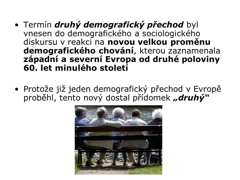 Termín druhý demografický přechod byl vnesen do demografického a sociologického diskursu v reakci na novou velkou proměnu demografického chování, kter
