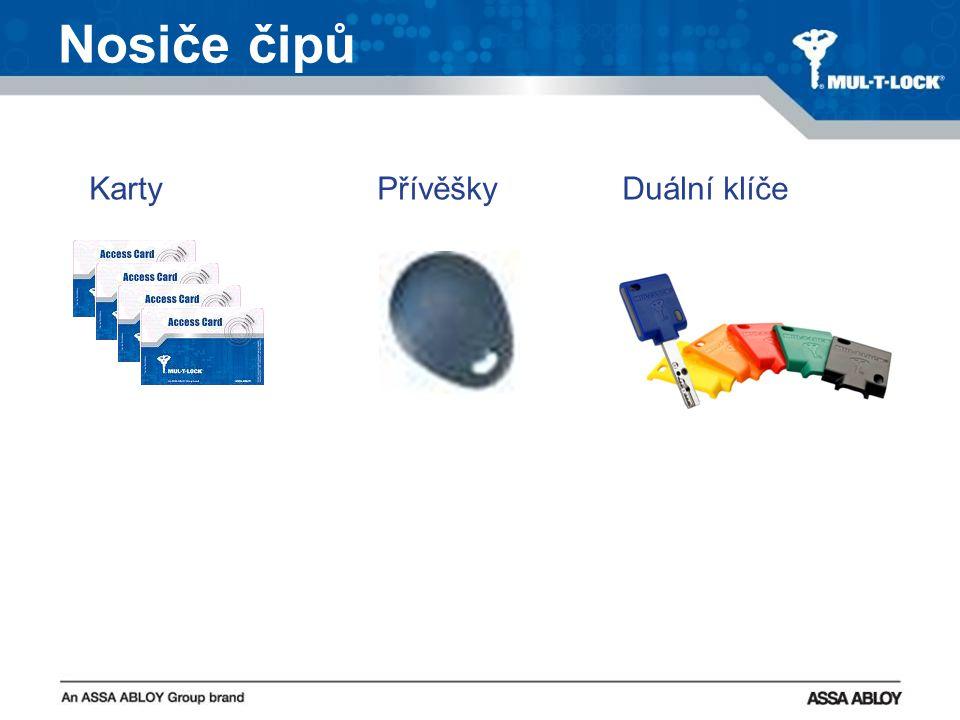 Nosiče čipů KartyPřívěšky Duální klíče