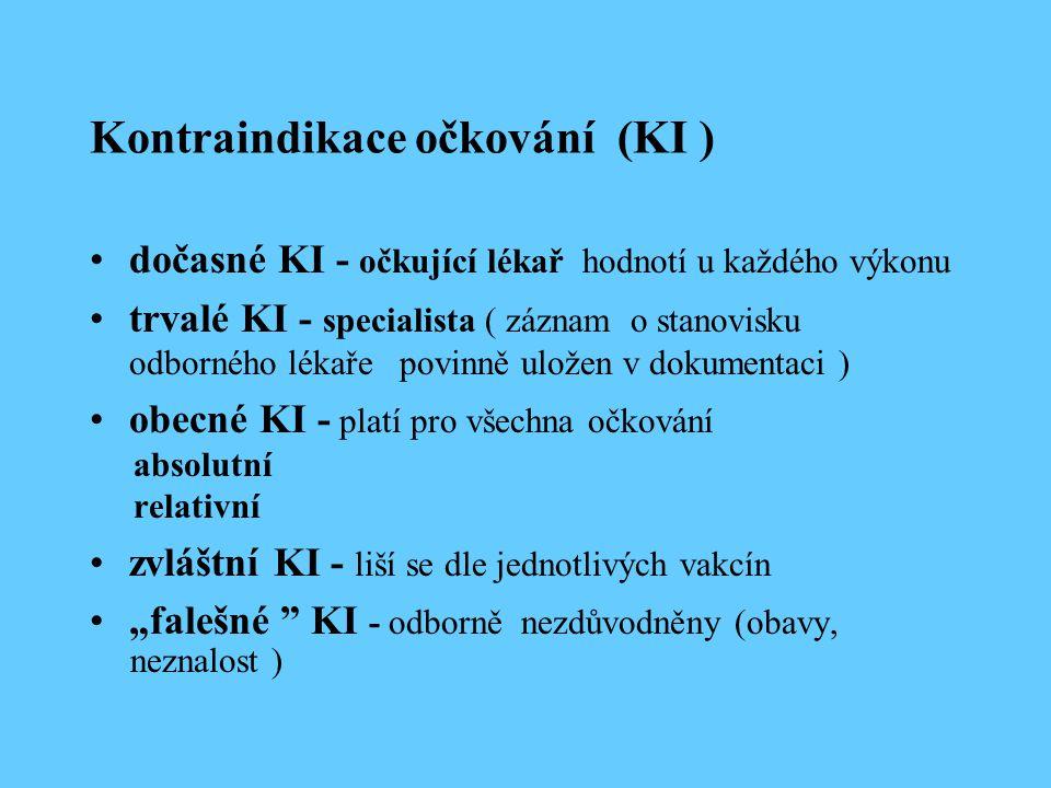 Vyžádaná očkování v ČR K dispozici proti : planým neštovicím meningokokovým infekcím klíšťové meningoencefalitidě virové hepatitidě A, B chřipce pneumokokovým onemocněním papilomavirům rotavirům