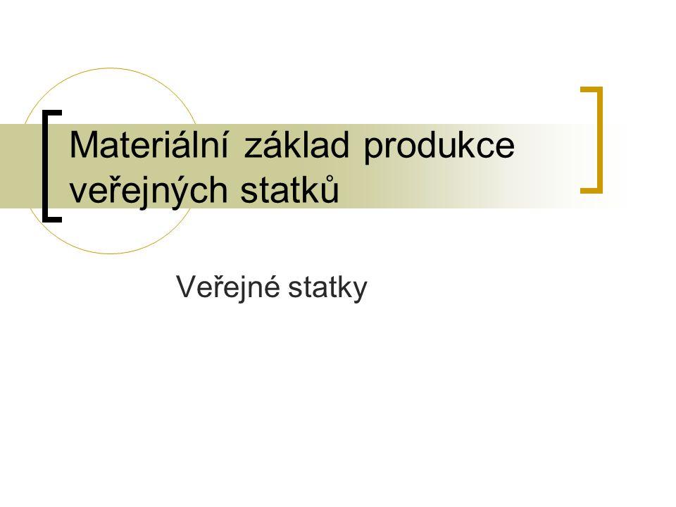 Materiální základ produkce veřejných statků Veřejné statky