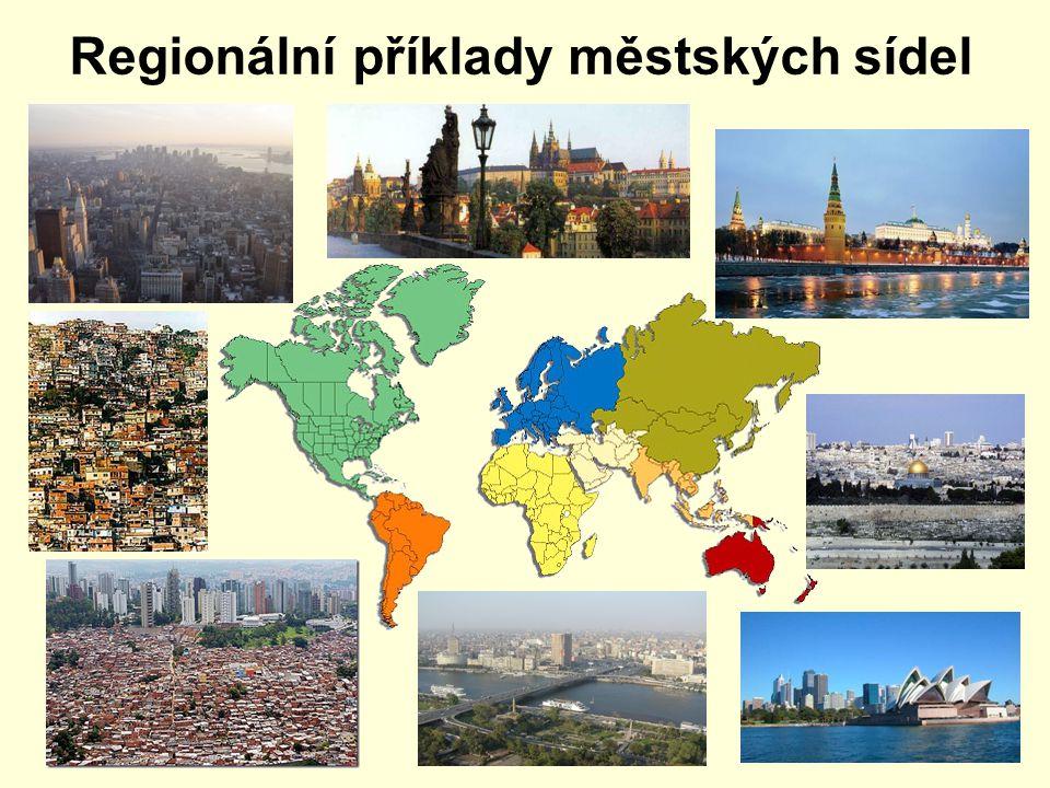 Regionální příklady městských sídel