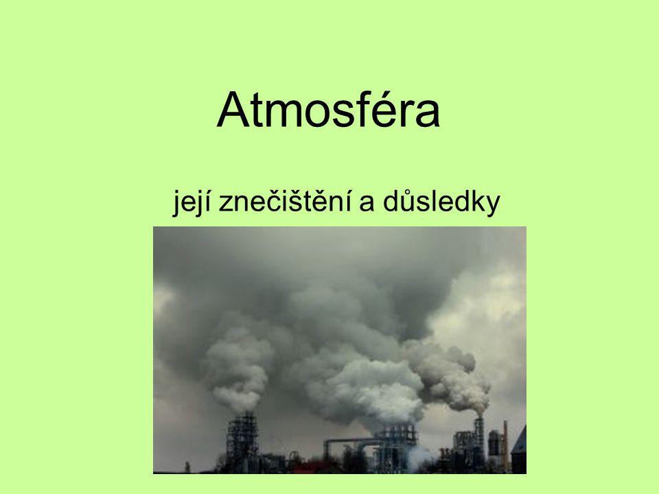 Atmosféra její znečištění a důsledky