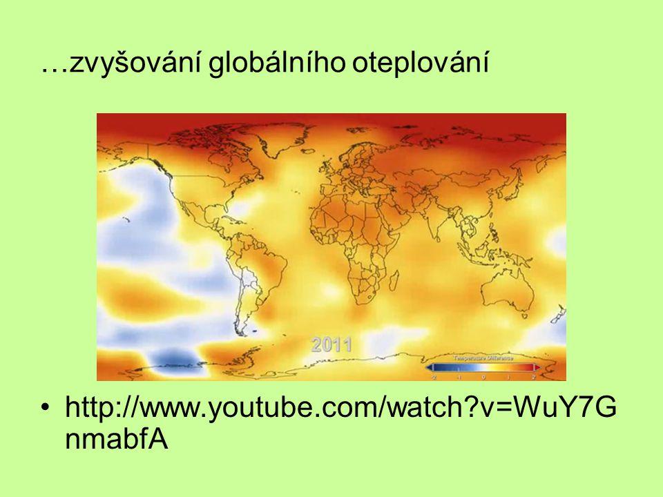 …zvyšování globálního oteplování http://www.youtube.com/watch?v=WuY7G nmabfA