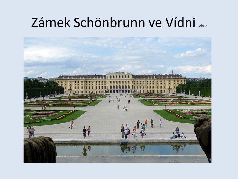 Zámek Schönbrunn ve Vídni obr.2