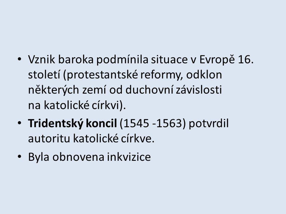 Odpovědi 1.Protestantské reformy, odklon některých zemí od duchovní závislosti na katolické církvi.