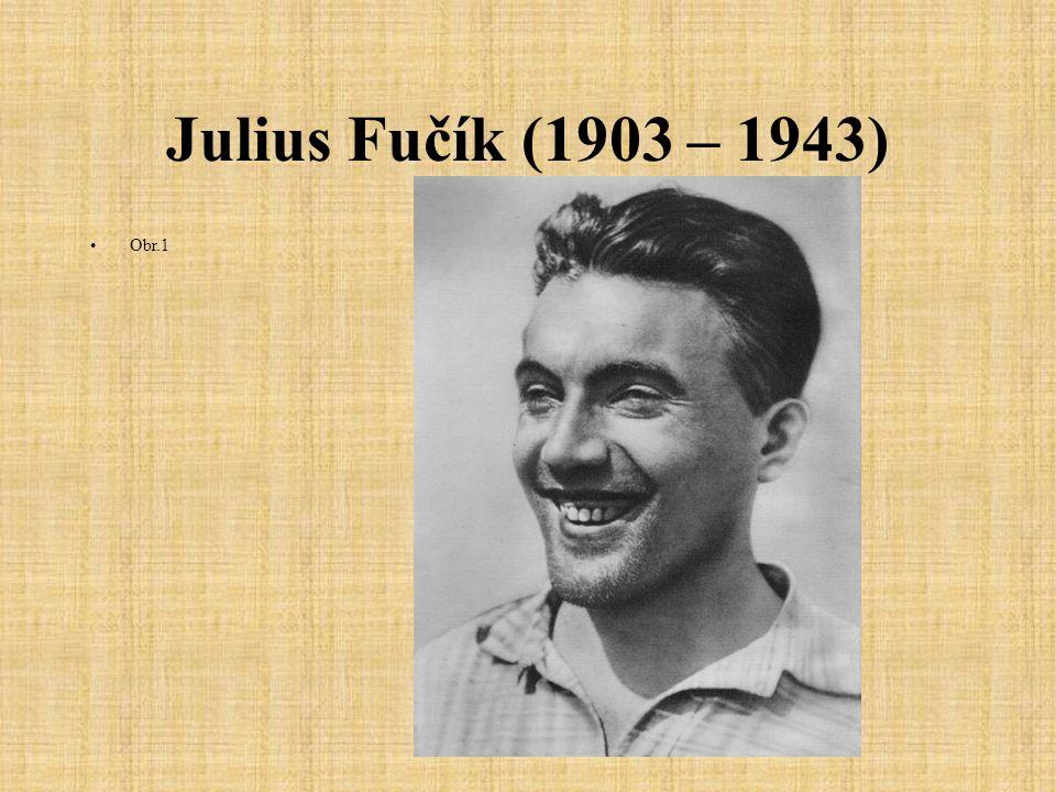 Julius Fučík (1903 – 1943) Obr.1